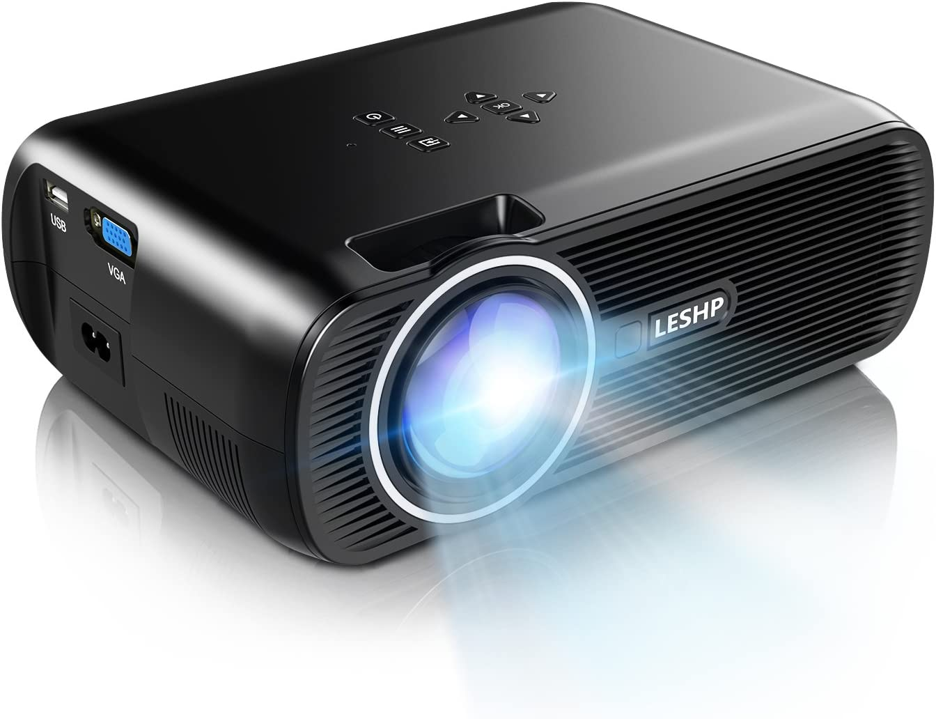 B01LW0BVTO 1500 Lumens LCD Mini Projector,LESHP LED Video Projector Home Projector with Free HDMI Support 1080P for Home Cinema Theater TV Laptop Game SD iPad iPhone Android Smartphone,Black 71rJ3mb2zqL.SL1500_