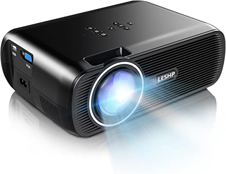 1500 Lumens LCD Mini Projector,LESHP LED Video Projector Home Projector with Free HDMI Support 1080P for Home Cinema Theater TV Laptop Game SD iPad ...