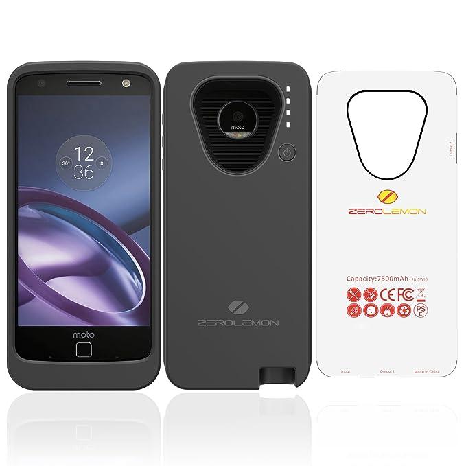 brand new 3de73 ac518 Motorola Moto Z Battery Case, ZeroLemon Moto Z 7500mAh Extended ...