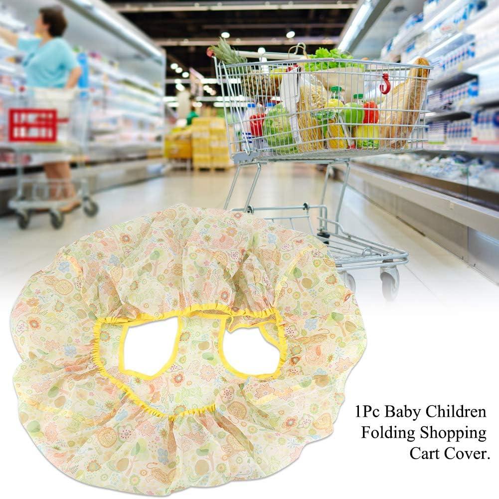 1 Coperchio del carrello di acquisto del bambino Bambini del bambino che piegano il coperchio del carrello di acquisto della copertura del carrello dei bambini anti-sporco