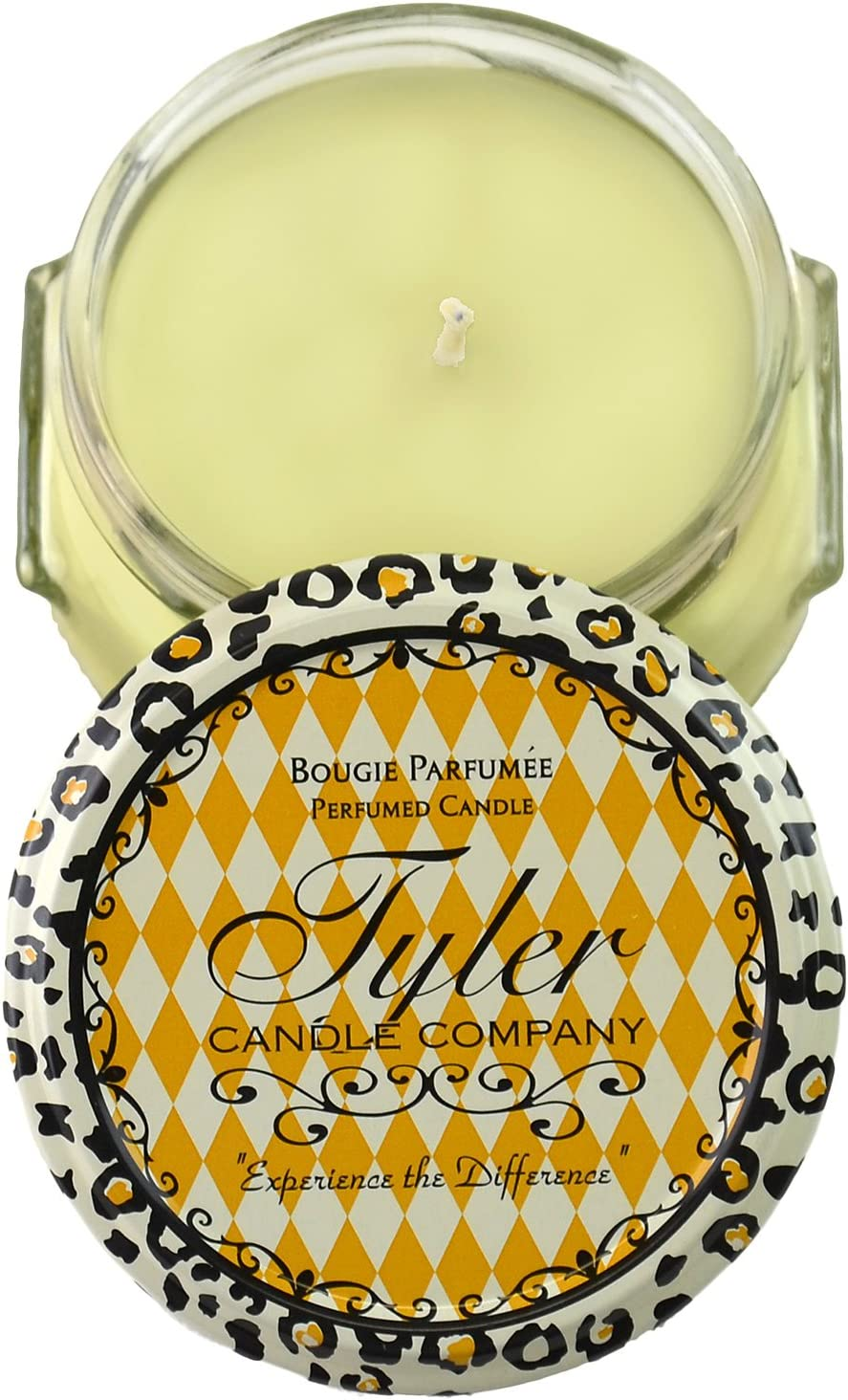 Tyler Glass Fragrance Candle 3.4 Oz,Limelight