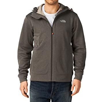 53168e552094 THE NORTH FACE Fleece Jacket with Hood and Full-Length Zip Brown coffee  brown heather
