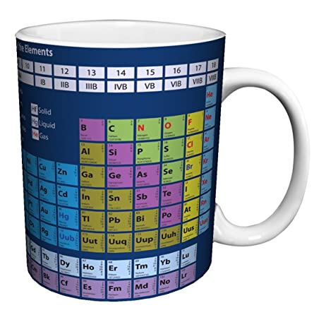 Amazon periodic table of elements decorative educational periodic table of elements decorative educational science porcelain gift coffee tea cocoa 11 urtaz Image collections