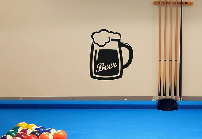 Classic jarra de cerveza para pared pegatinas decoración gráficos ...