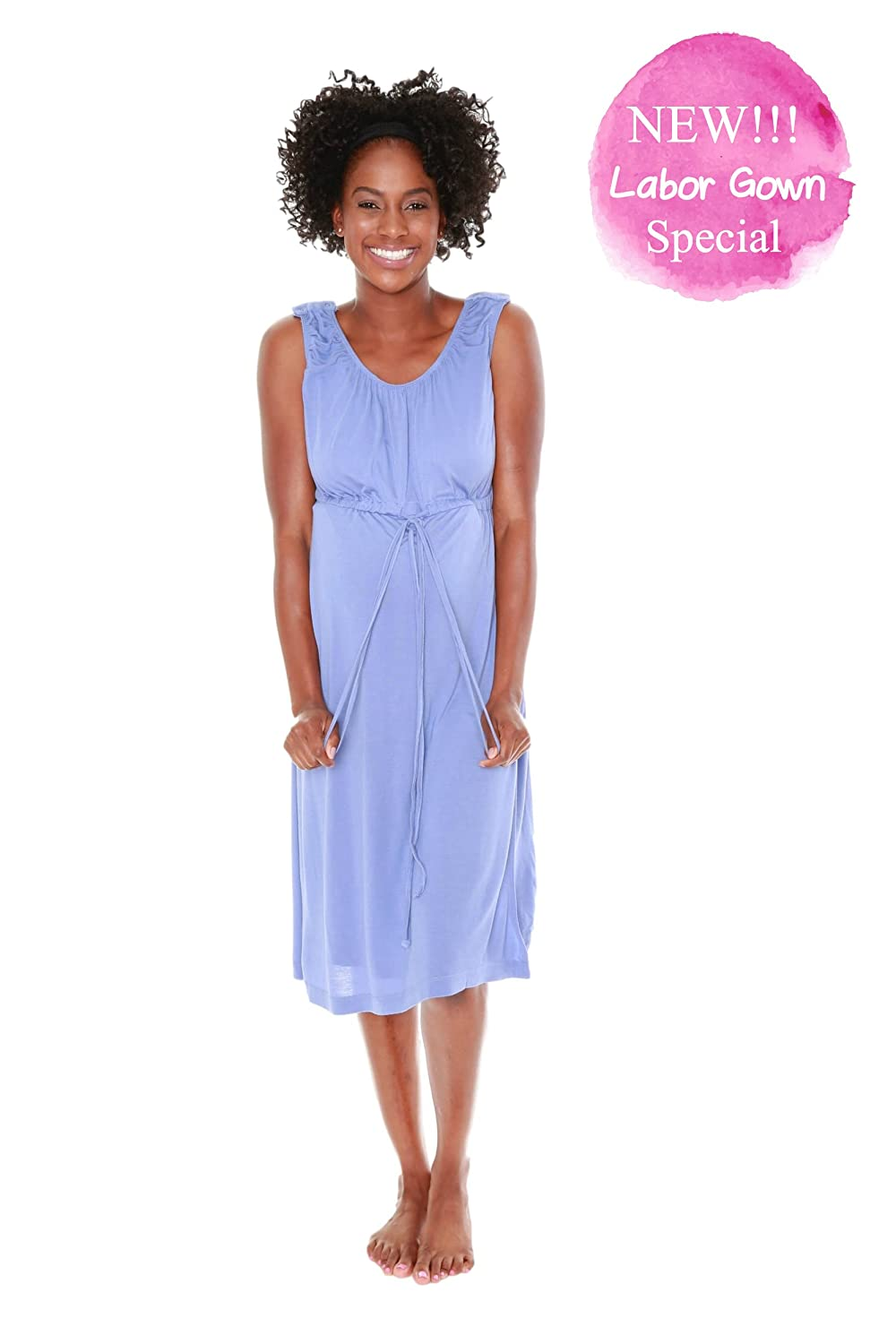 Baby Be Mine 3 in 1 Labor/Delivery/Nursing Hospital Gown Maternity ...