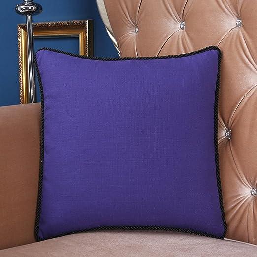 Más colores simple almohada Cojín de lana de pluma funda de ...