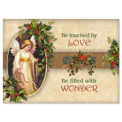 Angels Christmas Cards.Victorian Angel Christmas Cards Set Of 18
