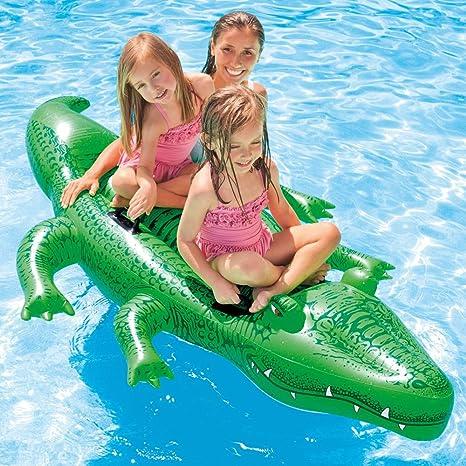 Intex 58562NP - Cocodrilo hinchable acuático & 4 asas 203 x 114 cm ...