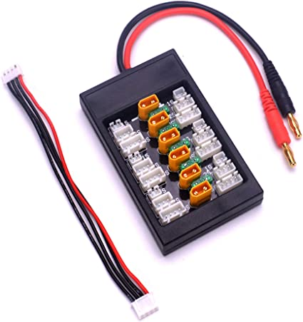 Amazon Com Fpvking Xt30 Parallel Charging Board 1s 2s 3s Lipo Battery Balance Charger Board For Imax B6 Charger Toys Games