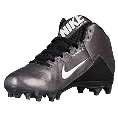 NIKE Men's Alpha Strike 2 Three-Quarter Football Cleat Black/Dark Grey/White