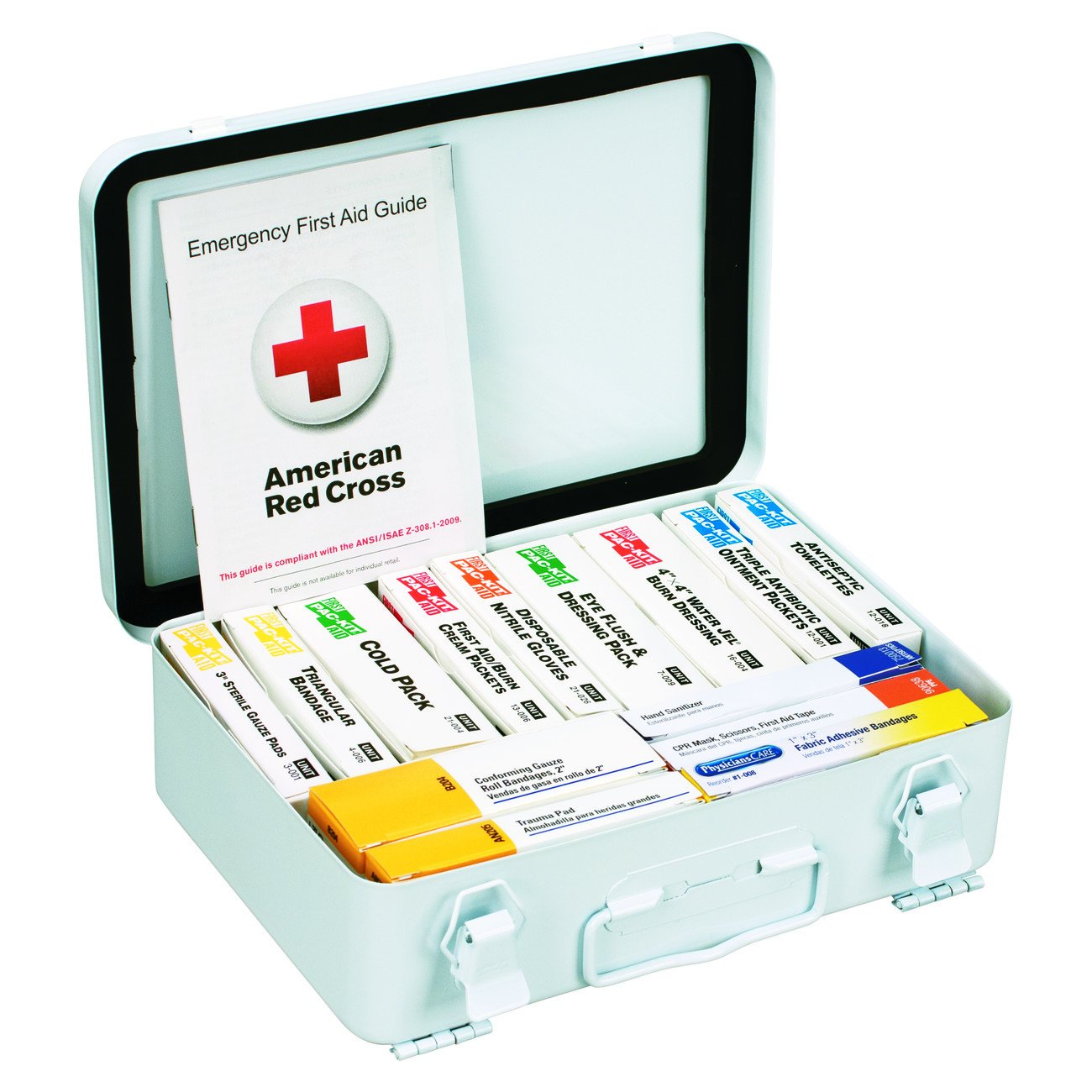 First Aid Only 90570 ANSI 2015 Compliant 54 Unit Class B First Aid Kit, Metal, Weatherproof by First Aid Only (Image #3)