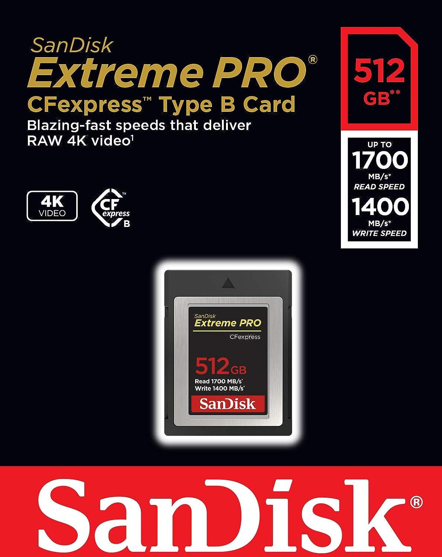 Sandisk Extreme Pro Cfexpress Speicherkarte Typ B 512 Computer Zubehör