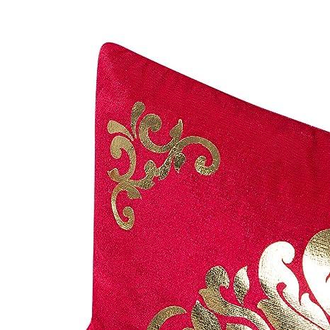 VJGOAL Súper Suave Oro Terciopelo Funda de Almohada Sofá Cintura Cojín Cojín Decoración para el Hogar Funda de Almohada 45 cm * 45 cm