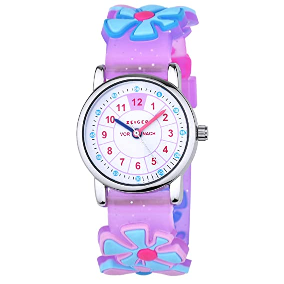 Cartoon Dog Children Digital Electronic Toy Flower Watch Kids Girls Boys Students Sports Clock Child Watches Quartz Wristwatches Watches