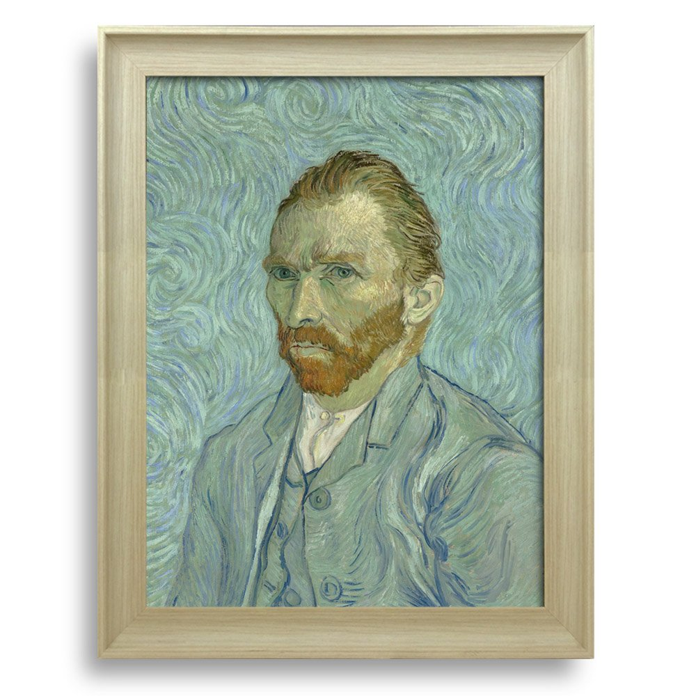 Self Portrait by Vincent Van Gogh Framed Art Print Famous Painting ...