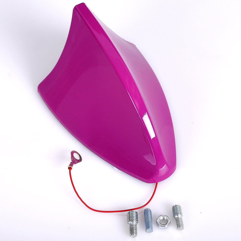 WOLTU 7022 Antenna Auto Universale a Pinna di Squalo Shark Adattatore Veicoli Radio AM//FM Nero Lucido