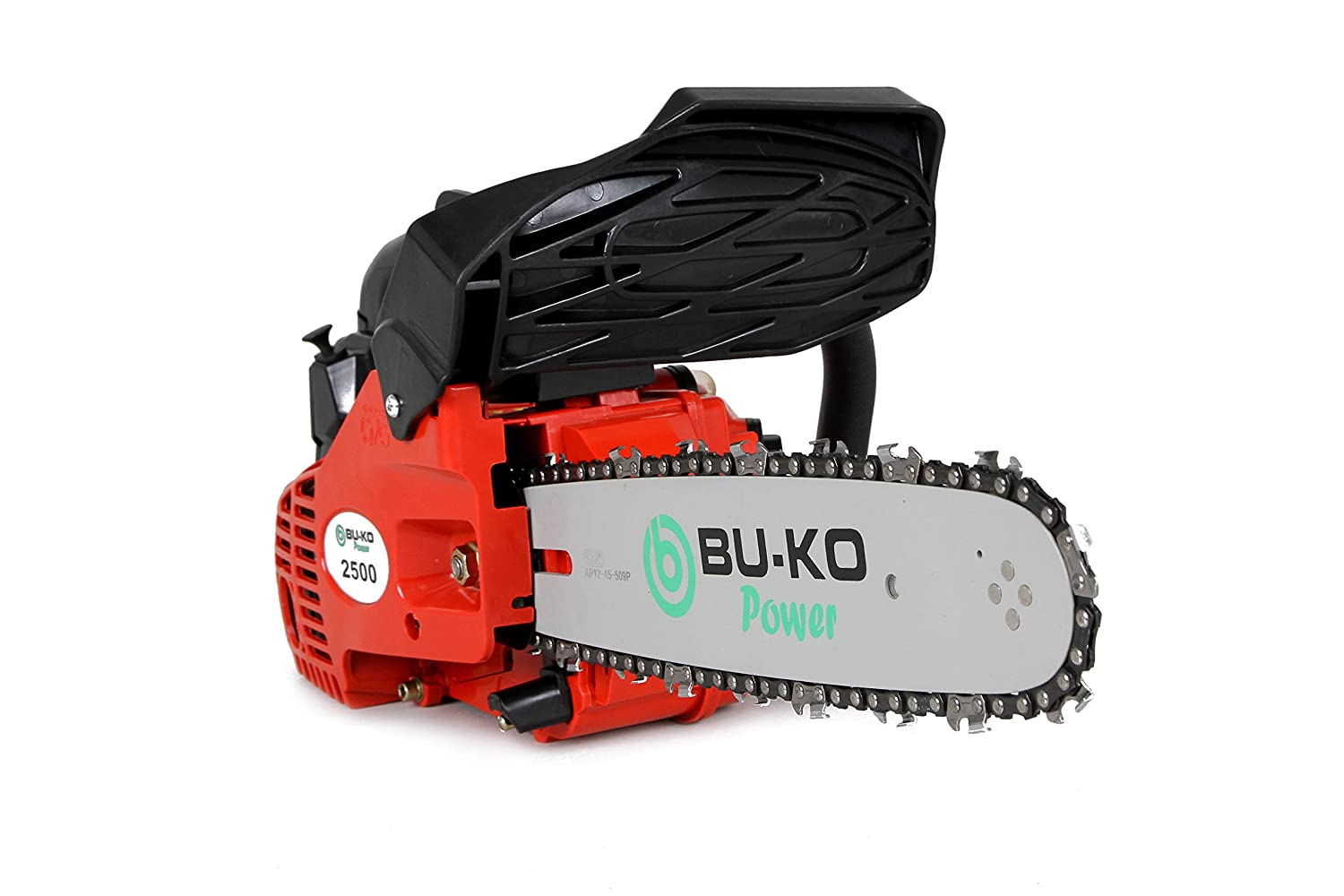 BU-KO 26 cc Lightweight Top Handled Petrol Chainsaw | 2 Chains and 10