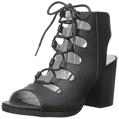 White Mountain Women's Fanfare Gladiator Sandal, Black, ...