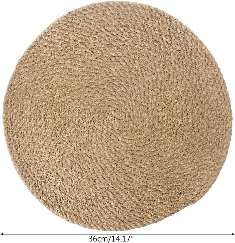 18cm ZOOMY Cup Coasters Rattan Paglia Tovagliette Tovagliolo Tavolo da Pranzo Mat Mat Isolamento Termico Placemat Holder Decorazione Tavolo