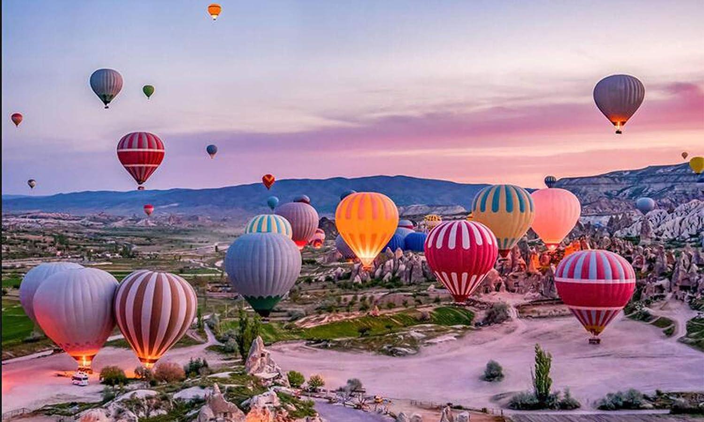 Rompecabezas De 1000 Piezas - Rompecabezas De Arte Ilustrado Romántico De 27 X 20 Pulgadas Con Escena De Globo Aerostático De Turquía, Divertidos Juegos De Actividades (Color:Globo Aerostático Goreme)