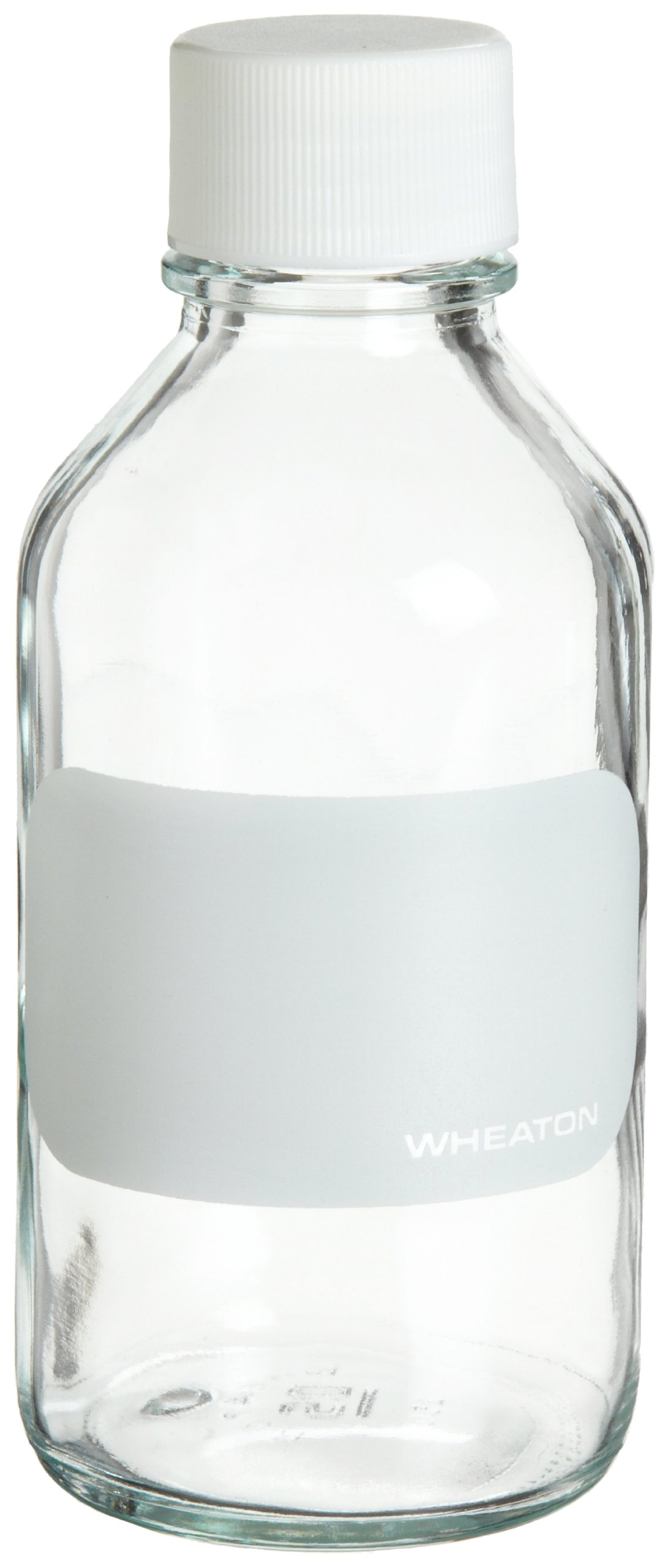 Wheaton 220223 Reagent Bottle, 250mL With 33-430 Solid Polypropylene PTFE Lined Screw Cap, 67mm x 150mm (Case of 6)