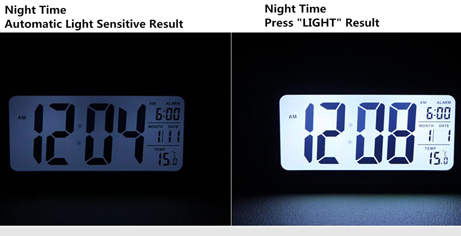 Amazon.com YOHAPP Digital Alarm Clock Large LCD Display with Smart Controllable Backlight Snooze (Black) Home Audio u0026 Theater  sc 1 st  Amazon.com & Amazon.com: YOHAPP Digital Alarm Clock Large LCD Display with ... azcodes.com
