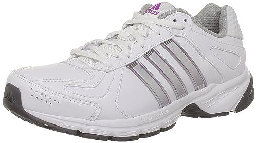 premium selection 20314 5b0ff adidas Performance Duramo 5 Lea w - Zapatillas de Correr de Cuero Mujer,  Color Blanco, Talla 44  Amazon.es  Zapatos y complementos