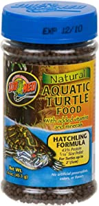 Zoo Med Natural Aquatic Turtle Food - Hatchling Formula (Pellets) 1.9 oz - Pack of 2