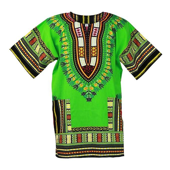 1081acfd85b Amazon.com  Traditional African Dashiki Cotton Mens Shirt