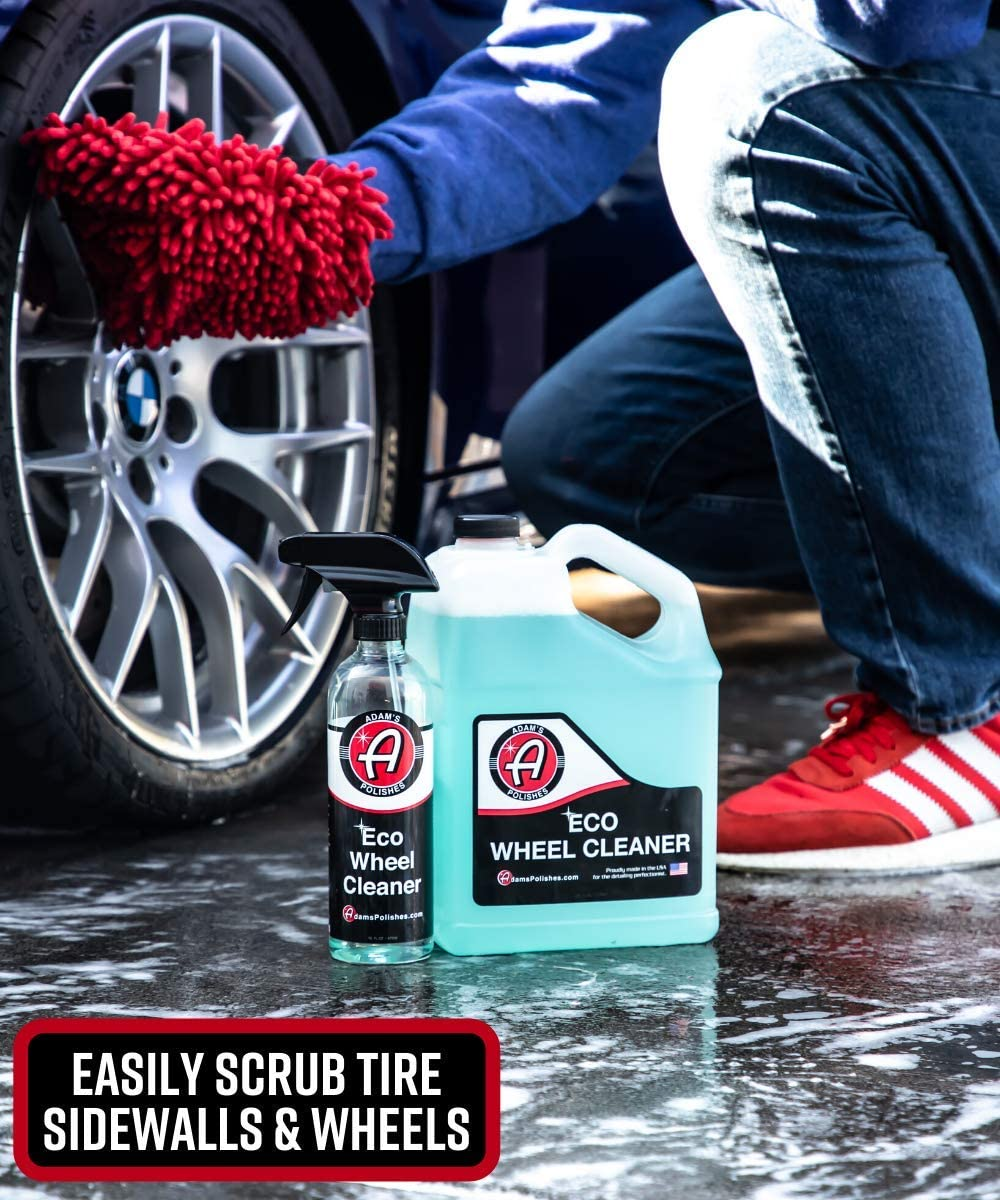 Tar and Other Tough to Remove Grime Scrubbing Side That is Great for Bug Guts Soft Chenille Microfiber for Safe Washing Adams Microfiber 5-Finger Dual Wash Mitt Premium