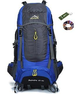 onyorhan 70L Viaje Mochila Trekking Senderismo Excursionismo Alpinismo Escalada Camping para Hombre Mujer