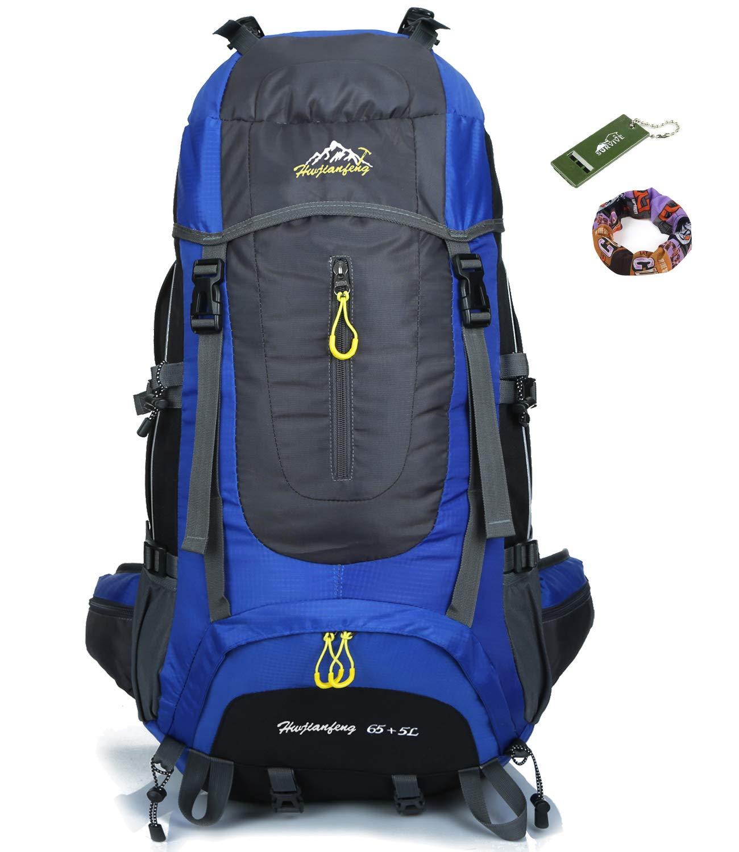 Onyorhan 70L Travel Backpack Trekking Hiking Mountaineering Climbing  Camping Rucksack for Men Women d8f51e626f829