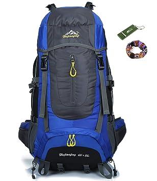 9a8d9d272 onyorhan 70L Viaje Mochila Trekking Senderismo Excursionismo Alpinismo  Escalada Camping para Hombre Mujer (Azul): Amazon.es: Deportes y aire libre