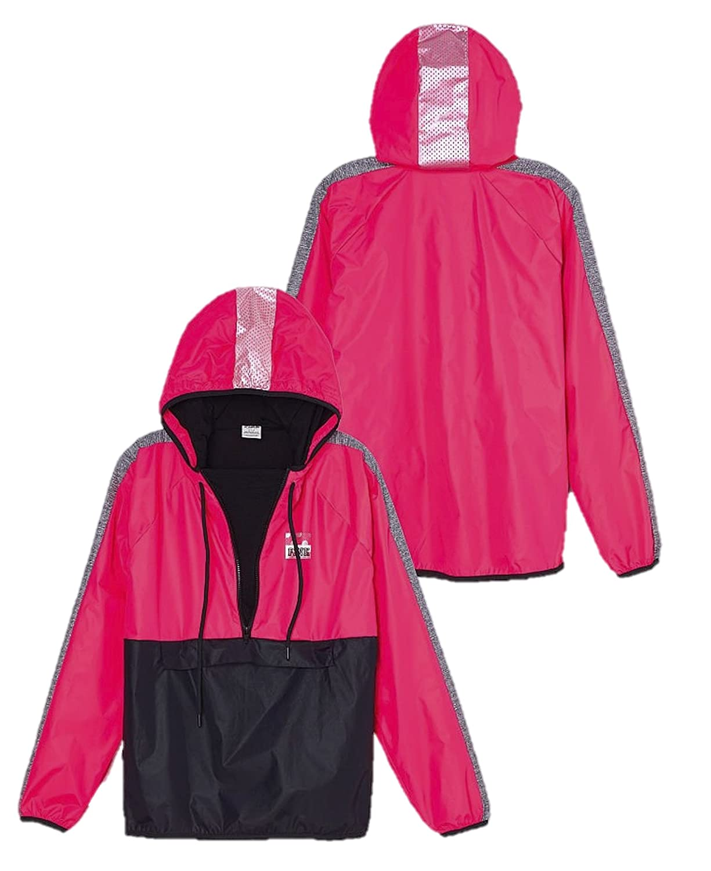 Victoria's Secret PINK Anorak Halfl Zip Pullover Fleece Lined ...
