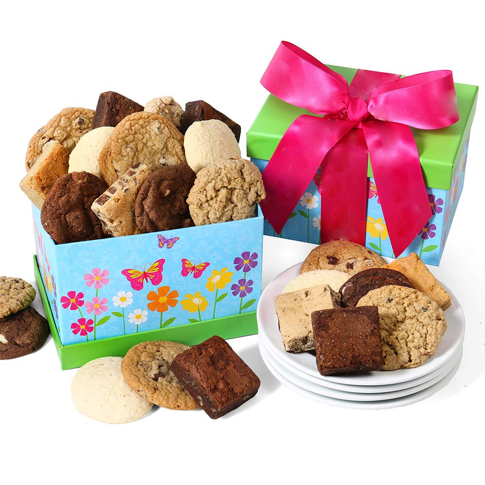 Baked Goods Chocolate Gift of Cookies & Brownies in Gift Box
