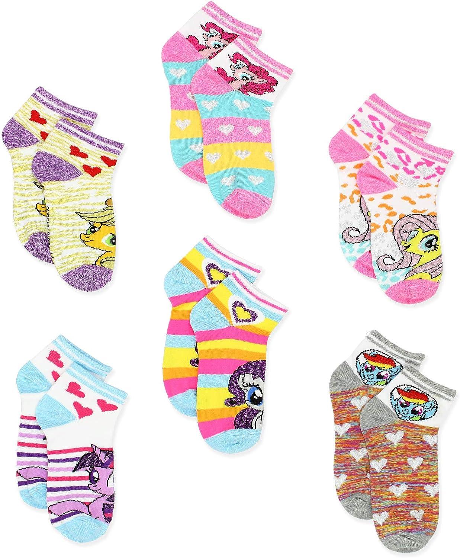 My Little Pony Girls Womens 6 pack Socks Toddler//Little Kid//Big Kid//Teen//Adult