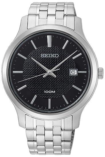 Seiko Neo Classic Reloj para Hombre Analógico de Cuarzo con Brazalete de Acero Inoxidable SUR293P1: Amazon.es: Relojes
