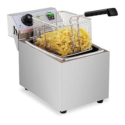 Royal Catering Freidora Electrica Profesional Para Hostelería RCEF 08EB (8 Litros, Potencia 3.200 Watt
