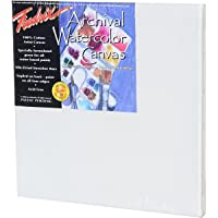 Fredrix 5532 Stretched Watercolor Canvas, 12 by 12-Inch
