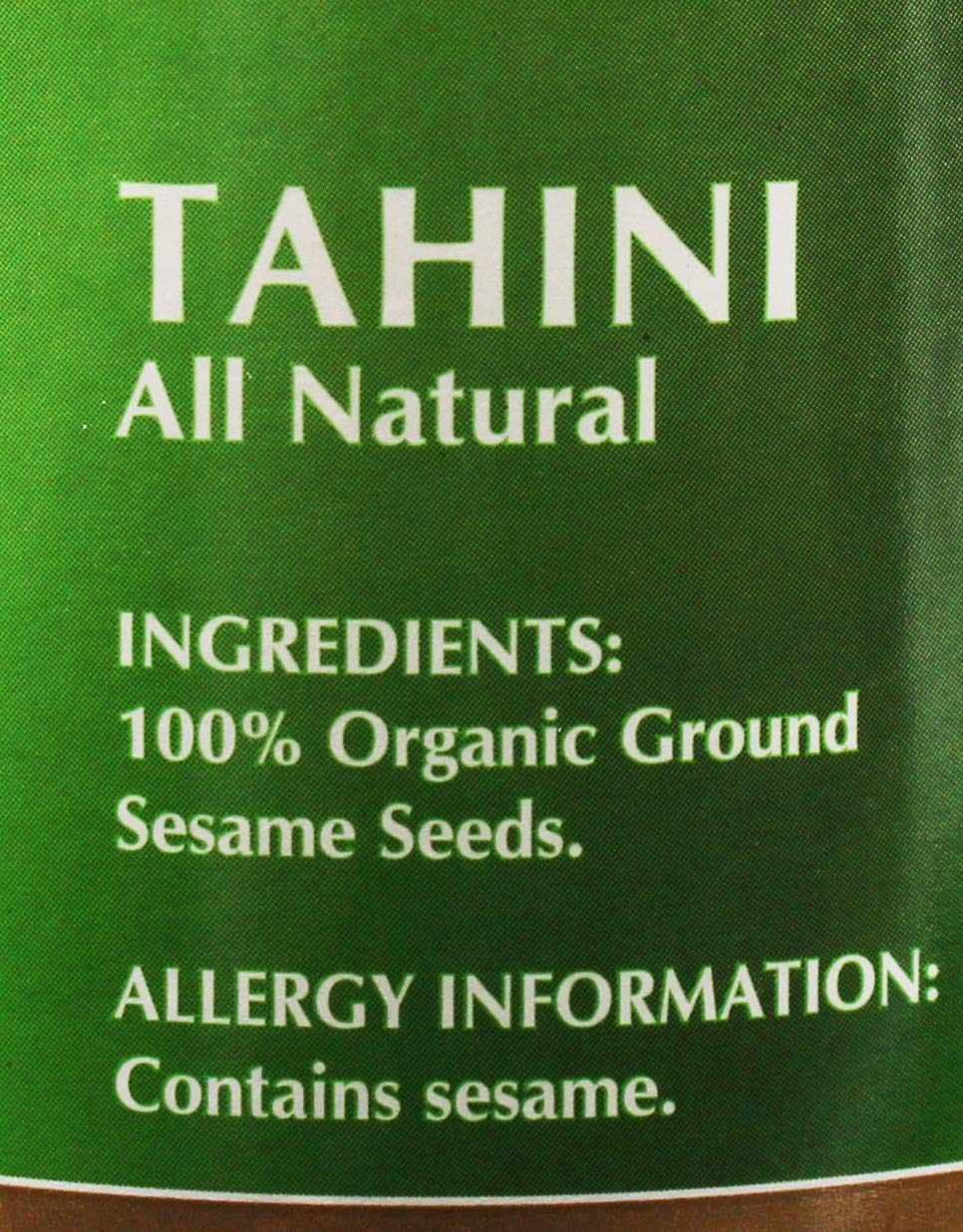 Baron's Kosher USDA Organic Pure Ground Sesame Tahini 16-ounce Jars (Pack of 4) by Baron's (Image #4)