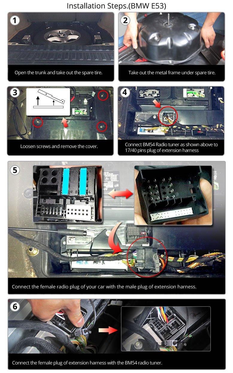Eonon A0579 Bmw E46 E39 E53 17 Pin 40 Extended Engine Wire Harness Installation Wiring For Ga6150 Ga6166 Ga6201 Ga7150 Ga7166 Ga7201 Ga7150s