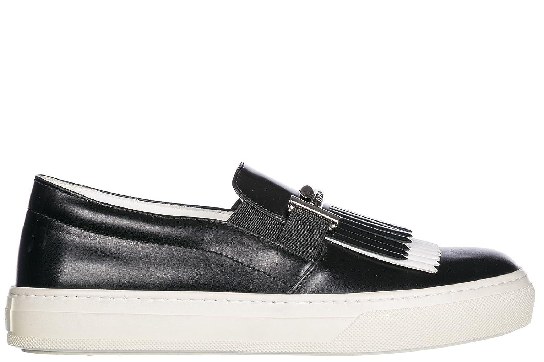 Tod's Slip on Donna in Pelle Sneakers Nuove Originali Sportivo xk Double t Nero