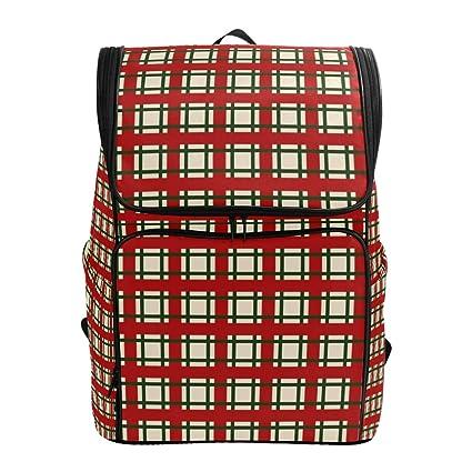 6ba2aeb49c3a Amazon.com: Backpack for Women Men Teen Girl Boy Christmas Plaid ...