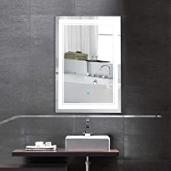 Better Home Better Life Vertical LED Lighted Vanity Bathroom Silvered Mirror