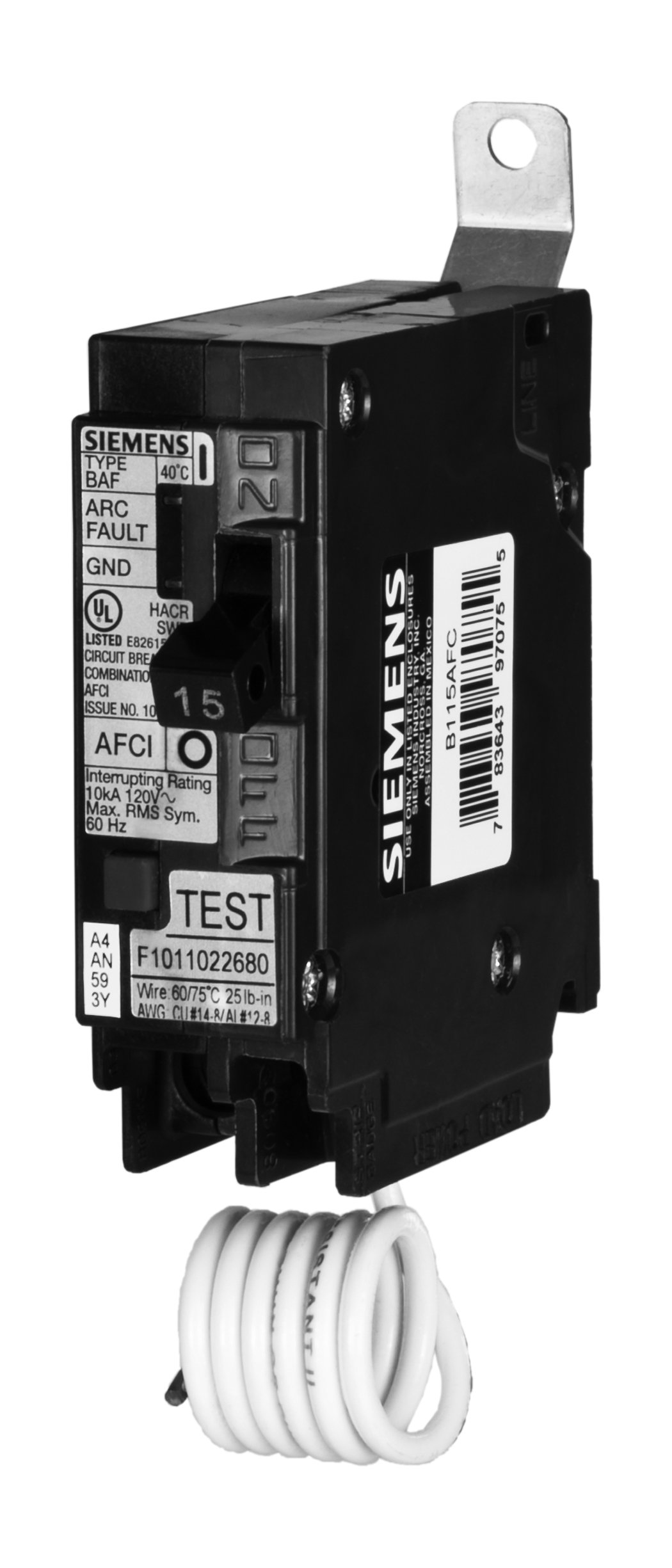 Siemens B120AFC 20-Amp Single Pole 120-Volt 10KAIC Bolt in Breaker