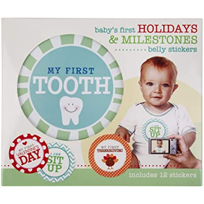 C.R. Gibson First Year Milestones and Holidays Baby Belly Stickers : Baby