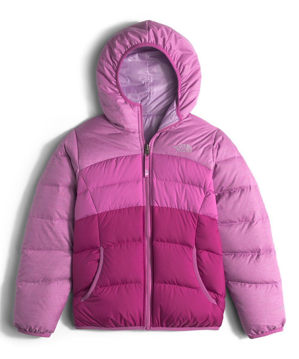 The North Face Kids Girls' Reversible Moondoggy Jacket (Little)2, Wisteria Purple Heather, MD (10-12 Big Kids)
