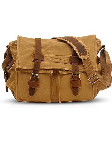 cb84ba24d1 FANDARE Nouveau Rétro Sacs Portés épaule Messenger Bag Sac Bandoulière 14  Pouces Laptop Briefcase Hommes Femmes