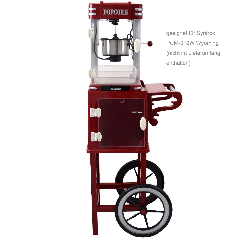 Syntrox Germany - Carrito para Popcorn Maker estructura carro para palomitas popcorn maker con dos Neumáticos PCM de UG Idaho: Amazon.es: Hogar