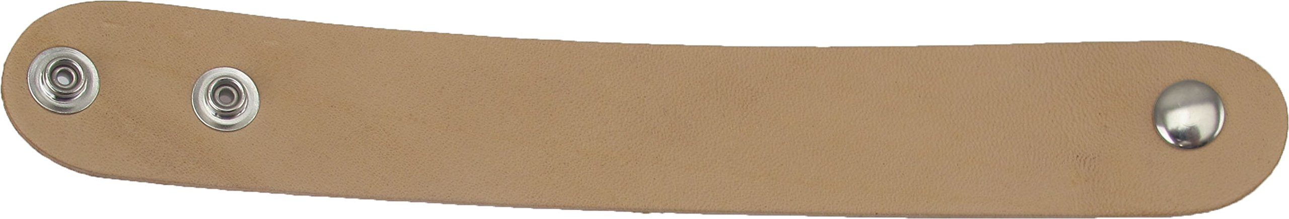 Springfield Leather Company 100 Pack of 1-1/4''x9'' Adjustable Leather Wristbands with Pre-attached Snaps